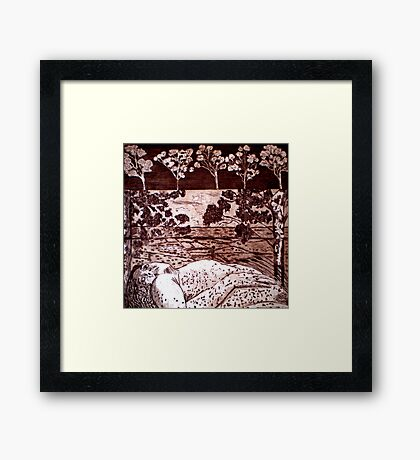 Delta Dawn - Copper Plate Etching Framed Print