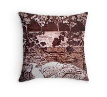 Delta Dawn - Copper Plate Etching Throw Pillow