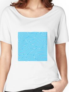 Shattered Glacial Polygons - Voronoi Stripes Women's Relaxed Fit T-Shirt