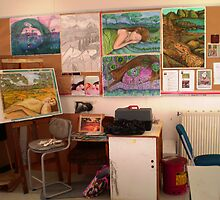 "Studio at TAFE by Belinda ""BillyLee"" NYE (Printmaker)"