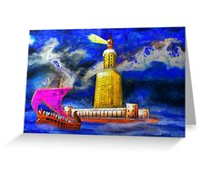 Pharos One of the Seven Wonders of the Ancient World Greeting Card