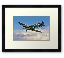 Spitfire T.9 MJ627/9G-P G-BSMB departing Framed Print