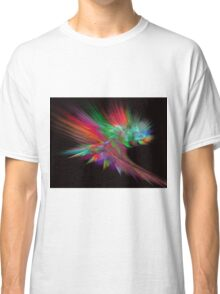 Feathery Bouquet on Black - Abstract Art Classic T-Shirt