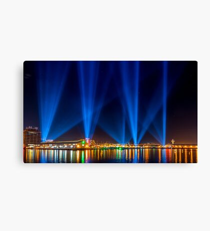Articulated Intersect, DARK MOFO, Hobart Canvas Print