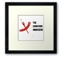 cccp carnivore manual  Framed Print