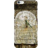 Vertical Sundial, St Buryan Parish Church iPhone Case/Skin