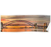 Orange - Moods Of A City # 7 - The HDR Series - Sydney Harbour, Sydney Australia Poster