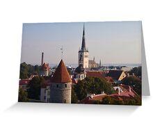 Rooftops Of Tallinn Greeting Card
