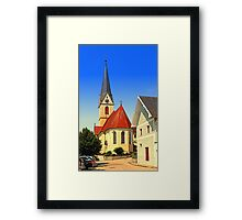 The village church of Allhaming III | architectural photography Framed Print