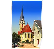 The village church of Allhaming III   architectural photography Poster