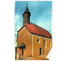 The cemetary church of Aschach an der Donau   architectural photography Poster