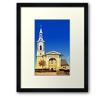 The village church of Niederkappel I | architectural photography Framed Print