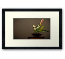Ikebana Flower Arrangement - simple Framed Print