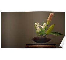 Ikebana Flower Arrangement - simple Poster