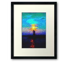 Lady Liberty Mosaic Framed Print