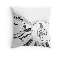 Fantasy IVWhale &avocet Throw Pillow