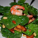 prawn salad with pine nuts by KimmyEvans