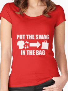 PUT THE SWAG IN THE BAG Women's Fitted Scoop T-Shirt