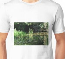 Reeds and Lily Pads, Calke Park Unisex T-Shirt