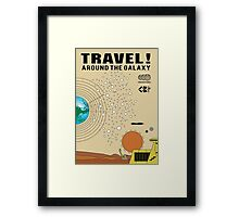 Travel the Galaxy Propaganda - Are You There? Framed Print