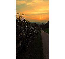 Cornfields with sundown | landscape photography Photographic Print