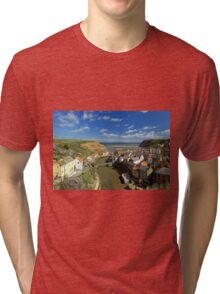 The Seaside Village of Staithes Tri-blend T-Shirt