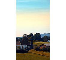 Beautiful farmland scenery   landscape photography Photographic Print