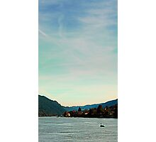 Peaceful river panorama   landscape photography Photographic Print