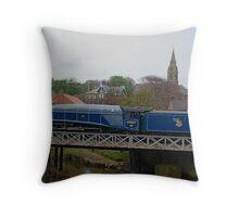 Sir Nigel Gresley crossing the River Esk Throw Pillow