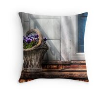 Basket of flowers Throw Pillow