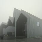 Glasgow Riverside Museum in thick fog by Maria Gaellman