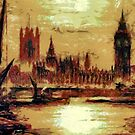 Houses of Parliament, London, England - all products bar duvet by Dennis Melling