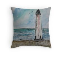 St George Island Florida Lighthouse Throw Pillow