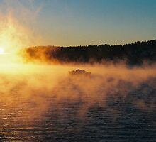 Boat in mist by julie08