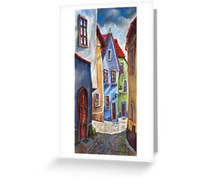 Cesky Krumlov Old Street 1 Greeting Card