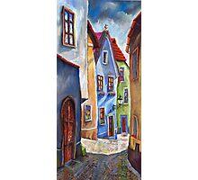 Cesky Krumlov Old Street 1 Photographic Print