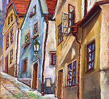 Chesky Krumlov Old Street 3 by Yuriy Shevchuk