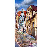 Chesky Krumlov Old Street 3 Photographic Print