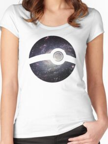 Galaxy - Pokeball Women's Fitted Scoop T-Shirt