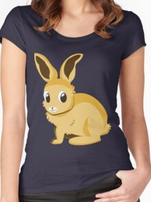 Yellow bunny Women's Fitted Scoop T-Shirt