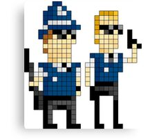 Hot Fuzz - Pixel Art Canvas Print