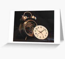 the time machine Greeting Card