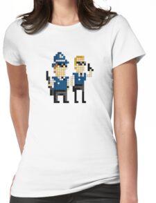 Hot Fuzz - Pixel Art Womens Fitted T-Shirt