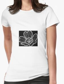 Abstract Flower Black and White T-Shirt