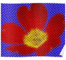 Pop Art Flower Poster