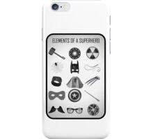 Elements of a Superhero  iPhone Case/Skin