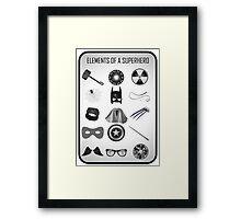 Elements of a Superhero  Framed Print