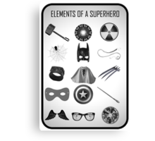 Elements of a Superhero  Canvas Print