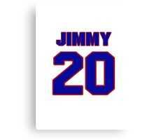National football player Jimmy Hargrove jersey 20 Canvas Print