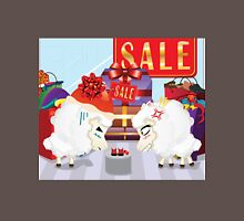 Two angry sheeps in the department store Unisex T-Shirt